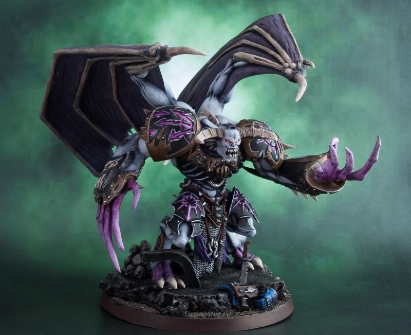 The GW Daemon Prince kit painted to be a Daemon Prince of Slannesh by ...